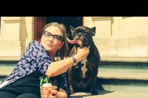 Where is Carrie Fisher's dog Gary these days?