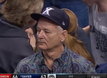 Bill Murray looks REALLY devastated after Xavier March Madness loss