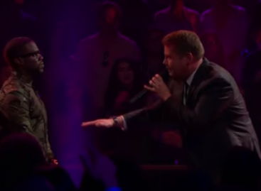Kevin Hart and James Corden battle rap on 'The Late Late Show' (Video)