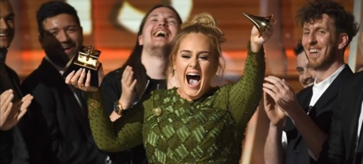 Adele pulled a Cady Heron at the 59th annual Grammy Awards