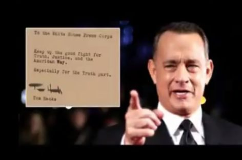 Tom Hanks sends coffee to journalists in White House